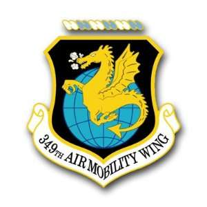 US Air Force 349th Air Mobility Wing Decal Sticker 3.8 6