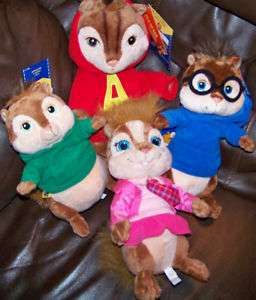 Build a Bear Chipmunks Simon Theodore Unstuffed Alvin