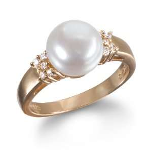 ROSE GOLD FRESHWATER PEARL RING CHELINE Jewelry
