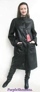 Christ Designer Lamb Leather Shearling Coat Jacket M