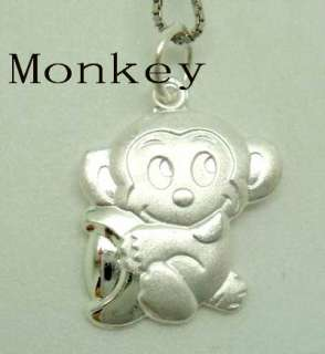 twelve Chinese zodiac signs 925 Sterling silver Charm pendants fit