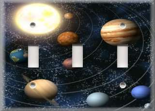 Light Switch Plate Cover   Outer Space   Solar System