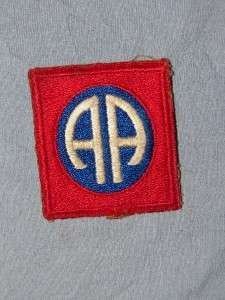 PATCH WW2 US ARMY 82ND AIRBORNE INFANTRY GREENBACK COTTON CUTEDGE