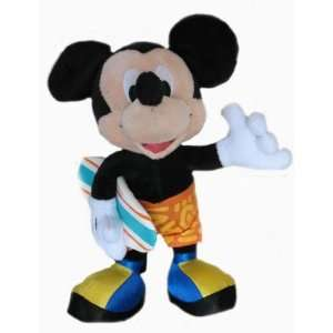 Disney 10 Surfing Mickey Mouse Plush Doll Toys & Games