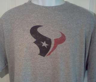 Houston TEXANS Throwback Style Logo NFL T Shirt XXL