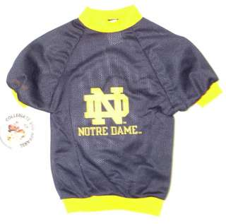 Notre Dame Fighting Irish NCAA Jersey for Dogs