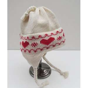 winter hearts ear flap hat