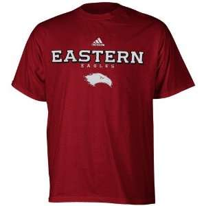 adidas Eastern University Eagles Maroon True Basic T shirt