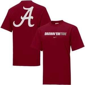 Nike Alabama Crimson Tide Crimson Rush the Field T shirt