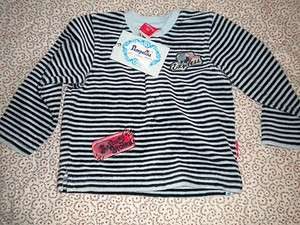 Orient Express Striped Velour Shirt Baby Boy 6 Months European 68 NWT