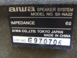 AIWA COMPACT DISC STEREO CASSETTE RECEIVER CX NA22U (CD NOT WORKING