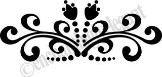 Embellishment Vinyl Decal Wall Sticker Room Mirror Window Decor