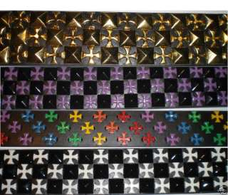 New Cross Studded Black Leather Belt S M L XL