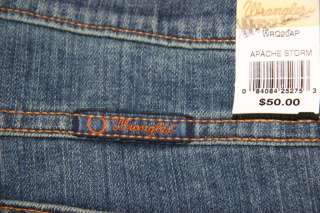 Wrangler Q BABY Apache Storm Mid Rise Stretch Boot Cut Womens Jeans 15