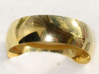 MENS OR WOMENS 18KT YELLOW GOLD GPPLAIN WEDDING RING BAND STR194T WIDE