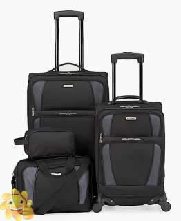 240 Tag Horizon 4 Piece Spinner Luggage Set ★ BLACK