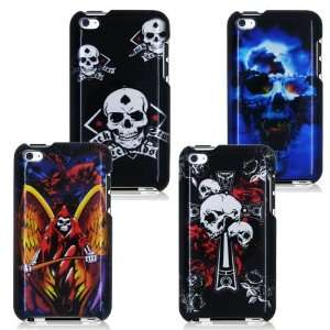 COMBO, BLUE VAMPIRE SKULL, ROCK SKULL, CROSS SKULL, WINGED GRIM REAPER