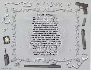 POLICE I AM THE OFFICER Poem Personalized Name Print