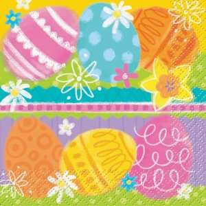 Lets Party By Unique Easter Spring Eggs Beverage Napkins