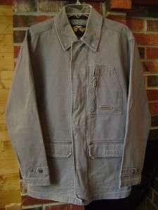 Harley Davidson Gray Cotton Canvas Field Jacket Mens Medium