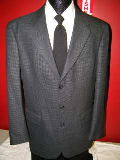 JOS A BANK Mens 3 BTN Jacket BLUE BLACK TWEED Sport Coat WOOL Blazer
