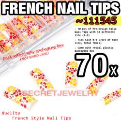 service my store product name 70 pcs pre designed french false nail