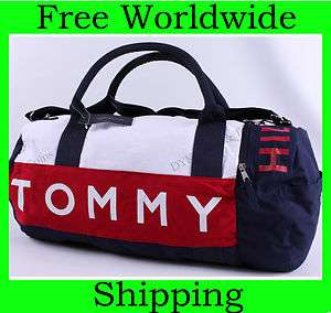 NEW TOMMY HILFIGER LARGE TRAVEL DUFFLE BAG GYM LOGO NWT