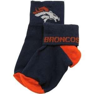 Denver Broncos Navy Blue Toddler Roll Top Socks