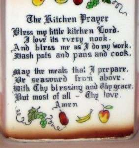 VINTAGE ENESCO MOTHER IN THE KITCHEN PRAYER LADY WALL PLAQUE DECOR