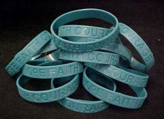 Ovarian Cancer Awareness Silicone Bracelets Lot of 12