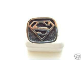 SILVER 925 SUPER HEROES LEGION Superman LOGO RING
