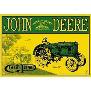 John Deere Model GP Tractor Metal Tin Sign Nostalgic: Home