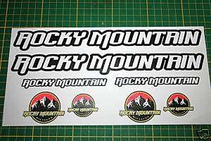 rocky mountain bike stickers decals set rockymountain W