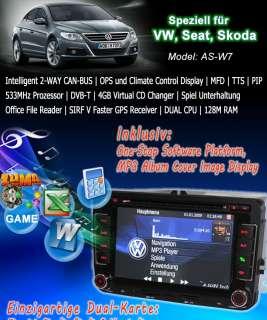 DVD GPS für VW EOS SEAT GOLF PASSAT TIGUAN TOURAN Sharan TRANSPORTER