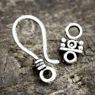 30PCS Sets Tibetan Silver Bali Hook Eye Clasp TS0297