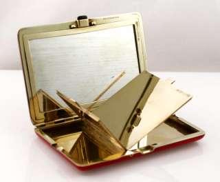 Tiffany 14k Gold Art Deco Enameled Compact 140 grams