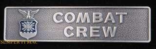 US AIR FORCE COMBAT CREW BADGE PIN MISSILE SAC ADC USAF