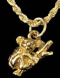 Koala Bear Gold Plated Pendant Charm Silver Animal