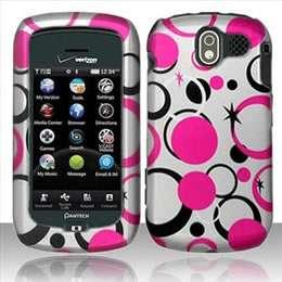 Pink Hearts Hard Case Cover for Pantech Crux CDM8999