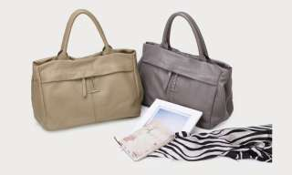 NWT Genuine Cow Leather Women Tote Bag Messenger Handbag Satchel Purse