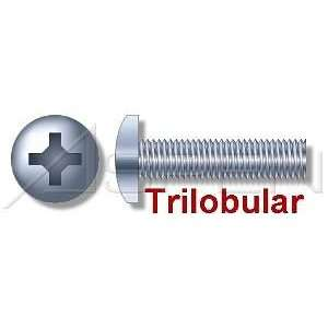 000pcs per box) Trilobular Thread Rolling Screws Pan Head Zinc 1/4