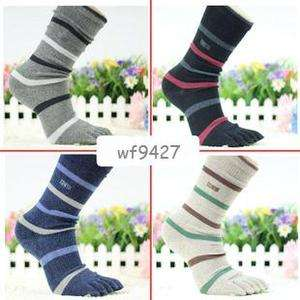 Pairs of Toe Socks five fingers¹ 100% Cotton Fashion Classical Stripe