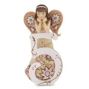 Five Year Old Birthday Angel Figurine, 5 1/2 Inch Tall: Home & Kitchen
