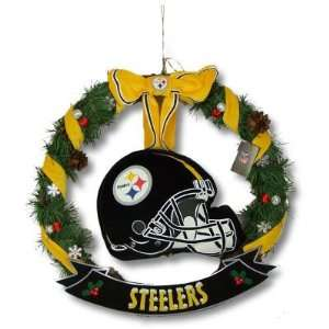 NFL Pittsburgh Steelers Helmet Door Wreath