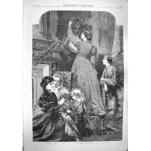 1865 Christmas Time Family Mistletoe Osborne Fine Art