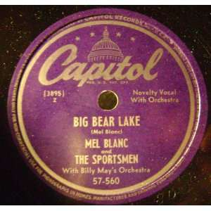 Crackers/ Big Bear Lake, 78 RPM Mel Blanc & The Sportsmen Music