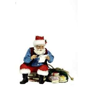 Kurt Adler Fabriche 10 Inch Reading Letter Santa:  Home