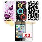 ACCESSORY BUNDLE Rubber Case Car Charger SCREEN GUARD IPHONE 4 4S