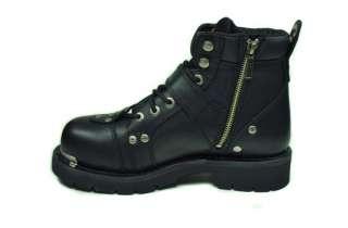 HARLEY DAVIDSON Break Buckle 6 STEEL TOE Black Leather Men Size Boots
