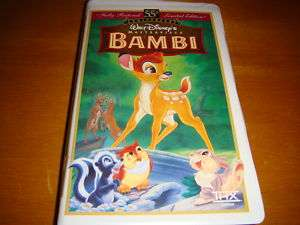 Bambi 55th Anniv.Walt Disney Masterpiece Collection VHS 012257942033